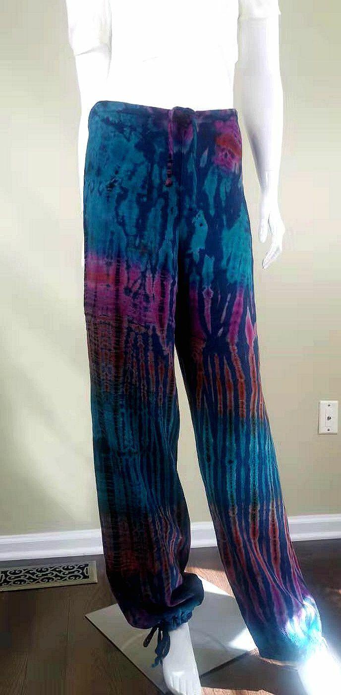 Unbranded Color-Painted Cotton/Linen Casual Pants… - image 5