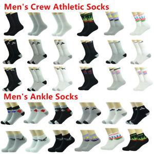 Wholesale-Multi-Colors-Men-039-s-Crew-Athletic-Ankle-Sport-Socks-Size-9-11-10-13