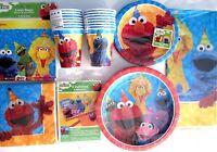 Sesame Street Elmo & Friends Birthday Party Supply Super Kit W/invites & Bags