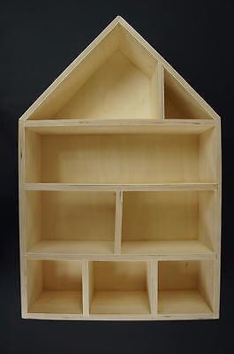 """1 X Plain Bambole In Legno """"casa Scaffale Caddy Portaoggetti Miniatures Display Pd37-mostra Il Titolo Originale Elegante Nello Stile"""