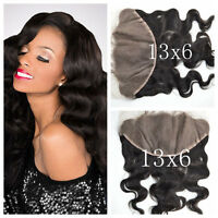 Peruvian Wider Lace Frontals 13x6 Ear To Ear Straight/body Wave/deep Wave 8aaa