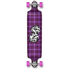 DICE Graphic Drop Down Complete Longboard Professional Speed Cruise skateboard