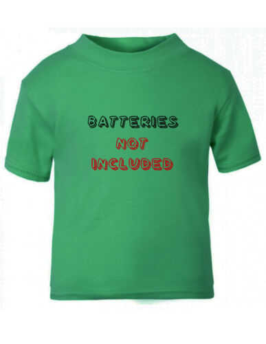Funny Batteries Not Included Cotton Toddler Baby Kid T-shirt Tee 6mo Thru 7t
