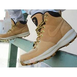 687586db58e Shoes Mens Nike Manoa Leather 454350 700 Ankle Boots Sand Fashion ...