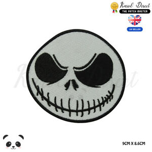 Ball-Skull-Jack-Skull-Halloween-Embroidered-Iron-On-Sew-On-Patch-Badge