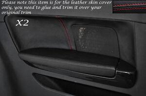 RED STITCH 2X FULL CENTER CONSOLE TRIANGLE SKIN COVER FOR AUDI A3 8P 03-12