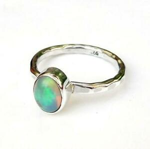Opal-Stone-Ring-Solid-925-Sterling-Silver-Ring-Band-Ring-Handmade-Ring-SR19