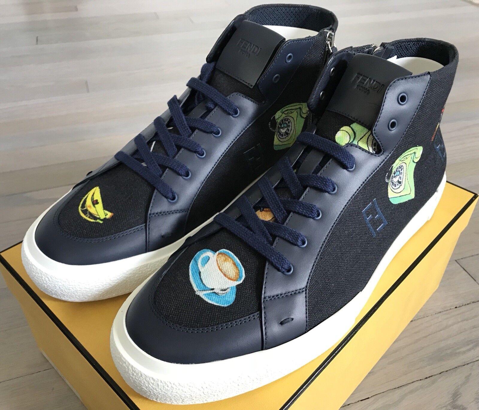 Edición limitada de 1,000  Fendi alta Tops Zapatillas de EE. UU. hecho en Italia