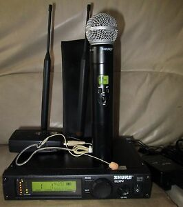 shure ulxp4 ulx1 earset ulx2 j1 554 590 mhz sm58 wireless microphone complete ebay. Black Bedroom Furniture Sets. Home Design Ideas