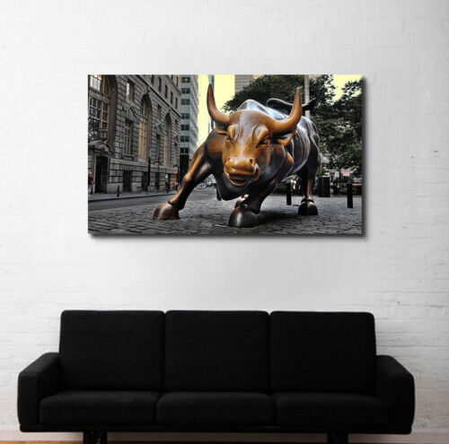Wolf of Wall Street Pick Size Wall Street Bull Market Art Canvas or Glossy