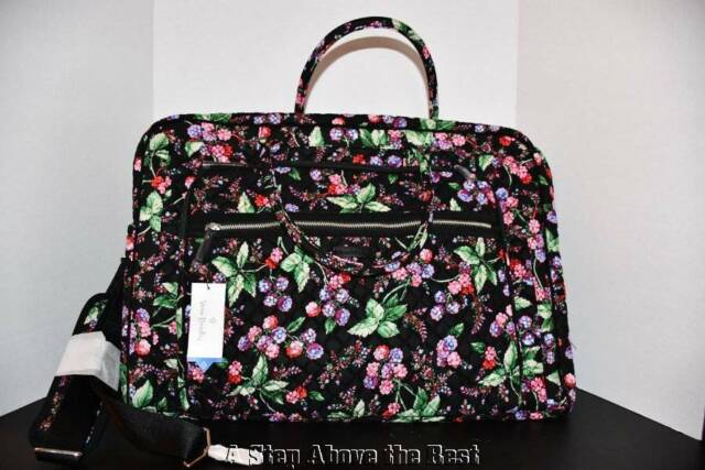 Vera Bradley Grand Weekender Travel Bag In Winter Berry 22118 I53 Nwt
