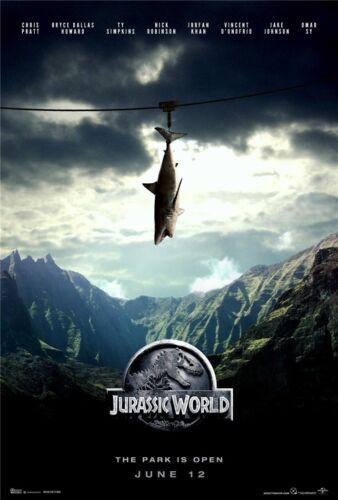 "Jurassic World Chris Pratt Dinosaur Moster Movie Poster 20x13/"" J27"