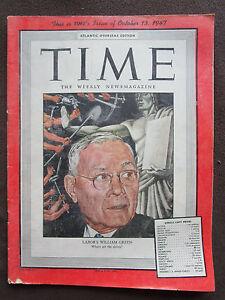 Gehemmt Unsicher Selbstbewusst Verlegen Time Magazine 1947 William Green Us Labor Leader Zsa Zsa Gabor Katharine Hepburn Kunden Zuerst Befangen