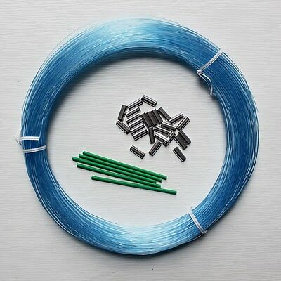 Blue Vinyl Chafing Tubing Loop Protector 2.8mm Glow Luminous 10ft