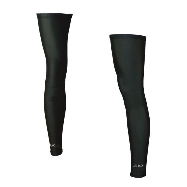 Athlex Beinlinge LYCRA Radsport Legs - schwarz - alle Größen - mit RV - NEU/OVP