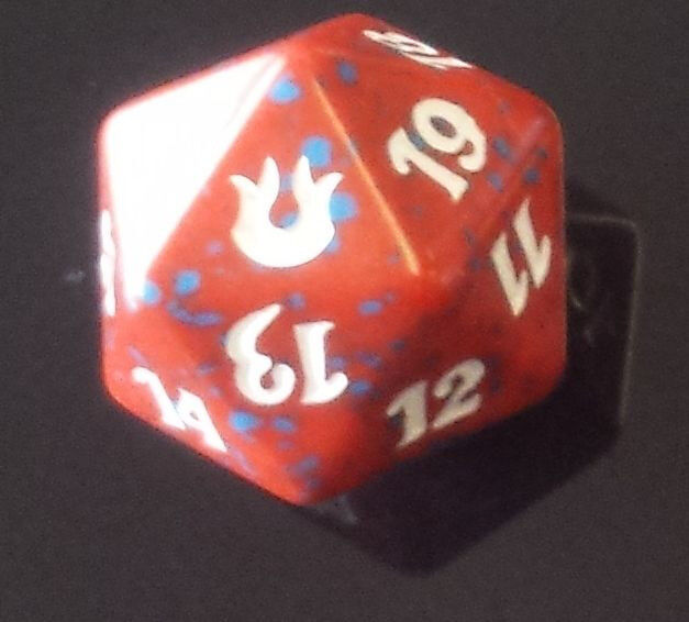 20 sided Spin Down Dice MtG Magic the Gathering 1 Red SPINDOWN Die Shadowmoor
