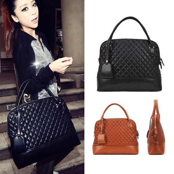 ac6bea211a Popular Elegant Women Faux Leather Package Handbag Tote Bag Black USSK
