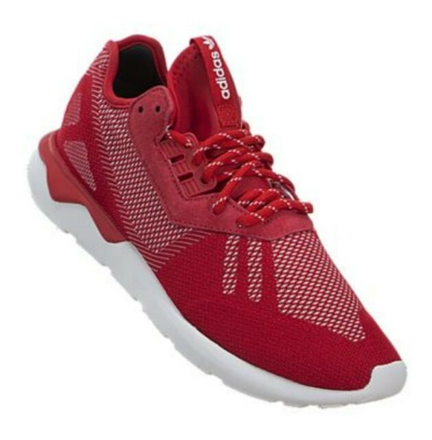 new concept 3b6e5 09a6d ADIDAS Tubular Runner Weave B25597 SCARLET-RED WHITE. NEW Men s (ASST SIZES