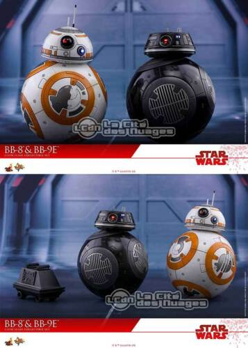 Hot Toys MMS442 Star War Ep VIII The Last Jedi BB-8 /& BB-9E 1//6 2-Pack Figures