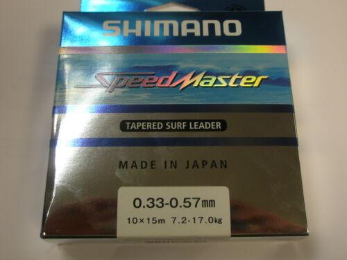 Shimano Speedmaster Tapered Shock Leaders Orange 10pk 15m ALL VARIETIES Fishing