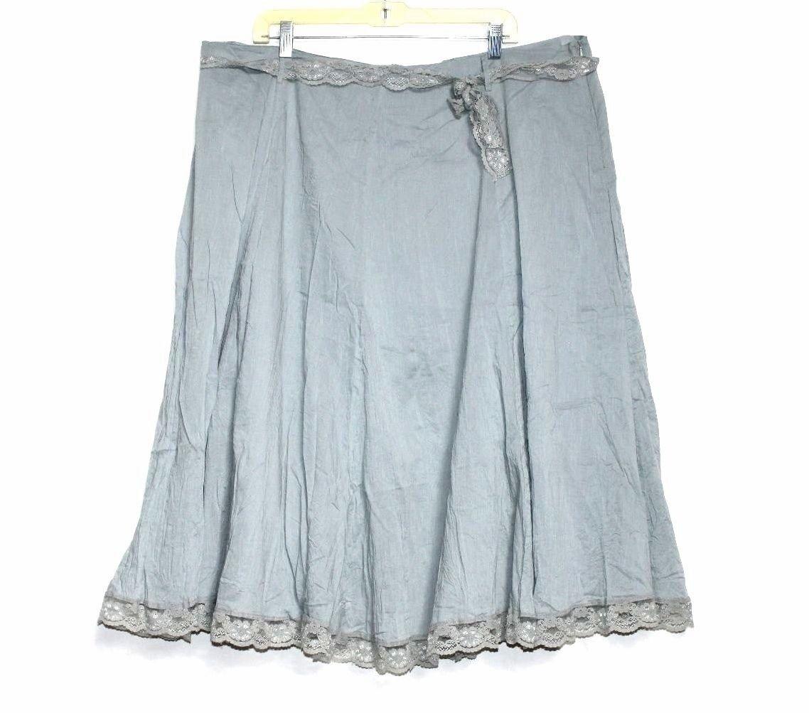 Millenium - 22 - Solid Pale bluee Lace Belt & Trim - Full A-Line Party Skirt