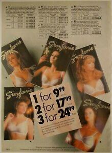 1991-Vintage-PAPER-PRINT-AD-lace-trim-satiny-shadow-bra-lady-lingerie-underwear