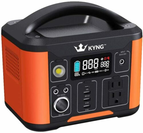 KYNG Solar Generator Portable Power Station 324Wh Pure Sine Wave Lithium Battery