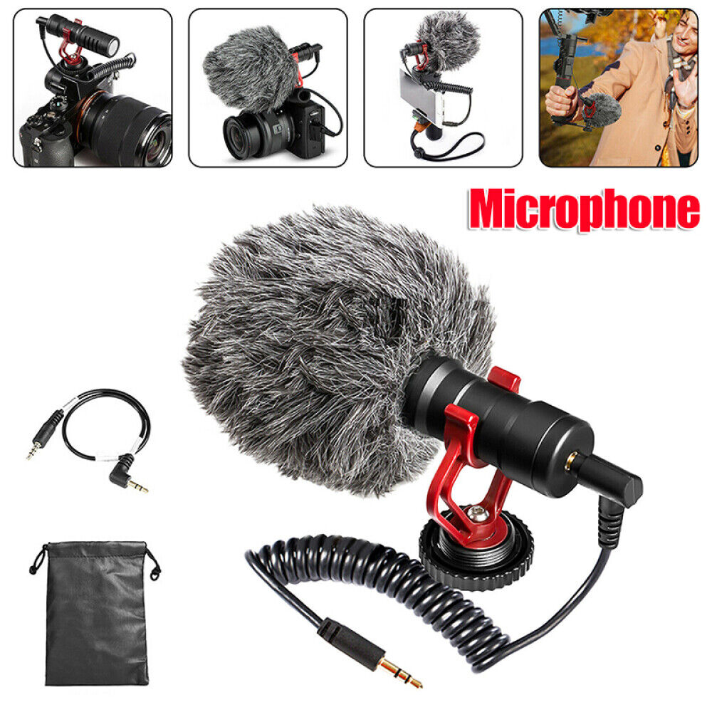 3.5mm Video Mic Microphone Pocket Video Recording For DSLR Camera Cell Phone