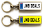 miniature 11 - Personalised Metal Double Sided Registration Number Plate Keyring Any Name /Text