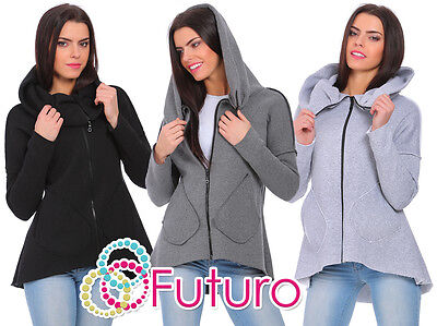 Ladies Casual Relaxed Warm Long Sleeve Cowl Neck Pullover Sweatshirt FZ124