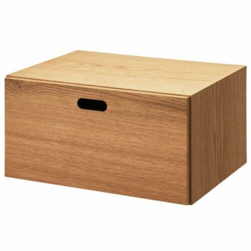 One Japan DHL Shipping New Oak MUJI Wood Storage Drawer 14.5 X 7.3 X 11 in