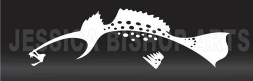 "White Black or Red Vinyl Trout Boat and Vehicle Decal 3/""x10/"""