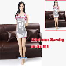"""Silver Dress Braces Skirt For Female 1/6 Scale 12"""" figure 1:6 Phicen Toys NO.9"""