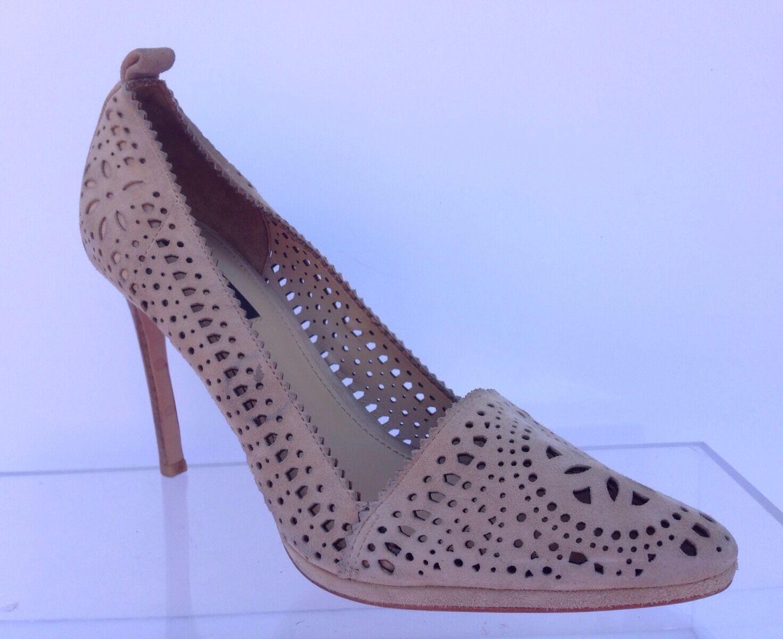 325 Rachel Zoe Zoe Zoe Para Mujer Color Beige Gamuza señaló la Heels zapatos Talla 7,5  a la venta