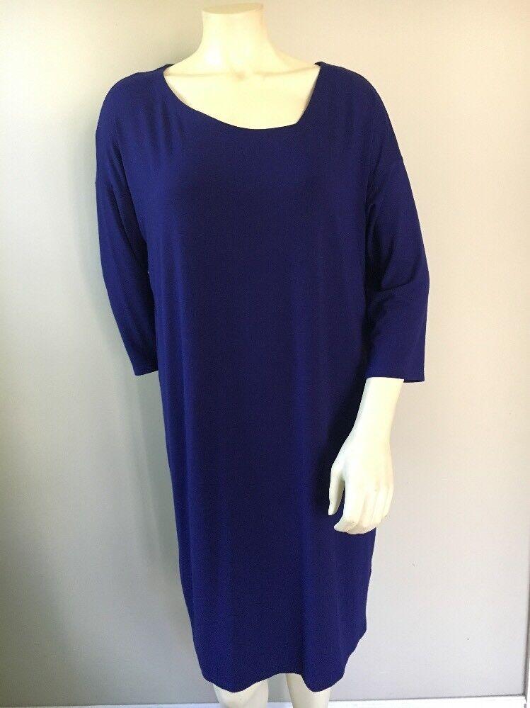Eileen Fisher damen Dress Blau Größe Modest 3 4 Sleeve