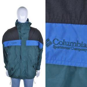 Columbia Vintage 90s Veste Ski L Extérieur Imperméable Snowboard Manteau Vert