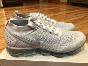 new style 5881e 6782e Image is loading Nike-Air-Vapormax-Flyknit-2-White-Vast-Grey-