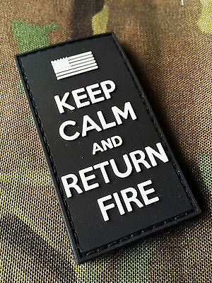 3d PVC Swat Keep Calm and Return Fire Morale Patch US Flag Uksf British Army USA
