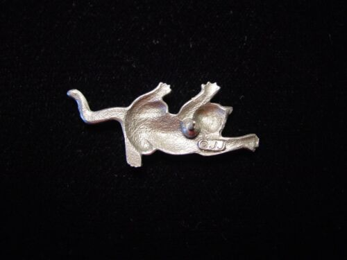 """/""""JJ/"""" Jonette Jewelry Silver Pewter Escalade Chat Tac Pin"""