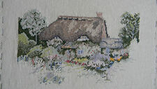 Completed Elsa Williams RUTH BASLER BURR Cross Stitch ENGLISH COTTAGE -JCA 12x14