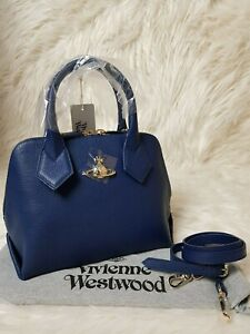 2422ddad792 Image is loading NEW-Authentic-Vivienne-Westwood-Balmoral-Small-Leather- Handbag-