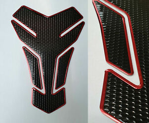 Cubierta-deposito-Tank-proteccion-motocicleta-carbon-piel-negro-rojo-universal-honda-Yamaha