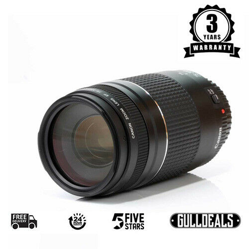 BRAND NEW Canon EF 75-300mm F4-5.6 III Telephoto Zoom Lens UK NEXT DAY DELIVERY