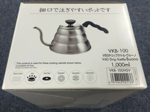 Hario V60 Buono Coffee Drip Kettle 1,000 ml VKB-100HSV VKB-100 MADE IN JAPAN