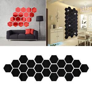 24-Unidad-DIY-3D-Espejo-Hexagono-Acrilico-Decoracion-Casa-Art-Pegatina-Pared