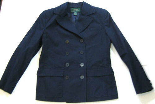 Light Navy Sz Peacoat Blue 6 Ralph Dbl Jacket stylet Lauren Breasted Af TAw4gg
