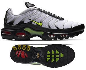 Details zu New NIKE Air Max Plus TN Men's Athletic Sneakers white volt crimson all sizes