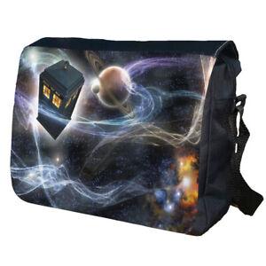 TARDIS Dr Who School College Personalised Shoulder Messenger Bag