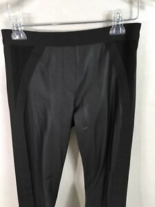 15c08d169744ea BCBG MAX AZRIA BLACK COMBO FAUX-LEATHER BLOCKED MOTO LEGGING PANTS ...