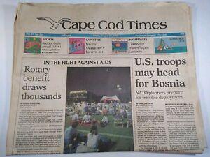 CAPE-COD-TIMES-MA-NEWSPAPER-Aug-27-1993-U-S-Troops-May-Head-To-Bosnia-AIDS